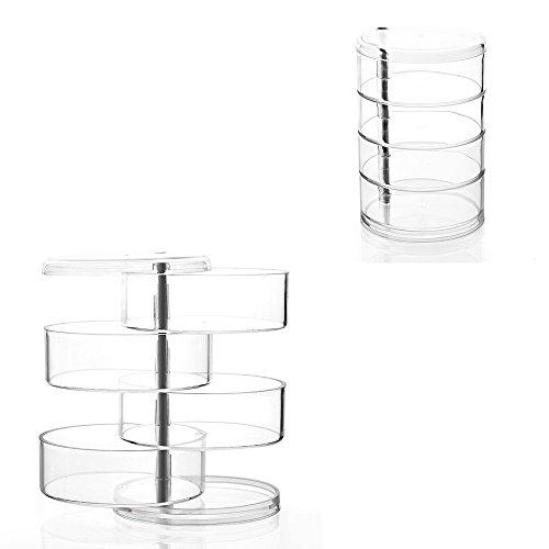 1pcs creativo joyero transparente multi - capa caja