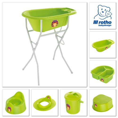 Rotho Babydesign 200210205AS BB Windeleimer Eule, apple green - 2