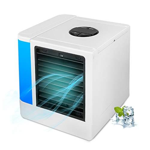 Jamicy® 3 in1 Mini Luftkühler mit LED Display, Air Cooler, Mobile Klimaanlage, leiser Tischventilator, Abnehmbarer Wassertank, sehr geeignet für Büro Camping zu Hause -