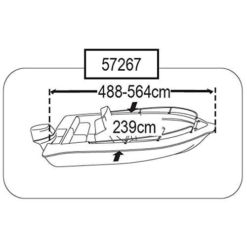 Persenning Motorboote div Größen Plane Schutzhülle Boat Cover, Größe:3