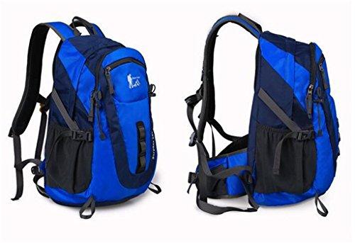 Outdoor-Klettern Tasche Männer und Frauen lässig Cross-Country-Wanderrucksack Vakuumpacksack Blau