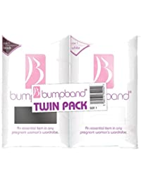 Bumpband Twinpack (Black and White, Band Size 1, Dress Size 8-12 Pre-pregnancy) - Exclusive to Amazon
