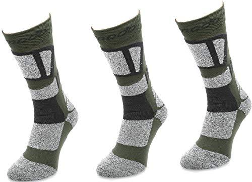 Comodo® STT - 3er-Set TREKKINGSOCKEN | Trekking | Wandern | Nordic Walking | Bergsteigen | Funktional | Antibakteriell | Schnell trocknend, Farbe:Khaki;Größen:39-42