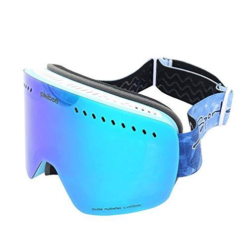MDYHJDHYQ Motorrad-Schutzbrille Skibrille Kind Klettern Spiegel Windschutz Phibee Große Kugelförmig Gefüllt Anti-Nebel (Color : 1, Size : 190 * 75mm) -