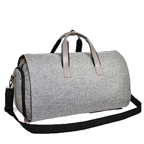 Wghz Männer Geschäftsreise Reisetasche Hängender Anzug Schuh Kleidung Große Kapazität Organizer Zylinder Umhängetaschen Grau -