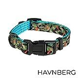 HAVNBERG Hundehalsband Gr. S Halsumfang 29cm - 39cm, Halsband für Kleine Hunde oder Welpen, Breite 1,5cm, Welpenhalsband, Camo, Camouflage