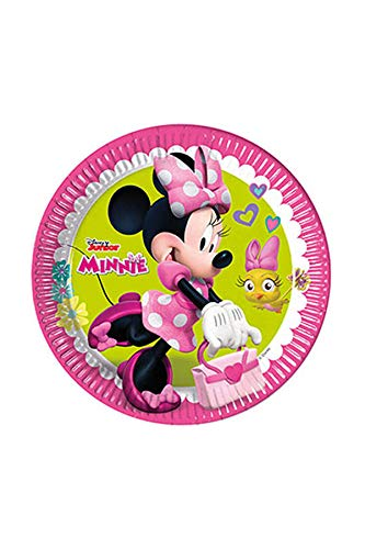 Disney 53837Minnie Mouse Party Dekoration Teller Papier, 23cm/groß (Mouse Thema-partei Minnie)