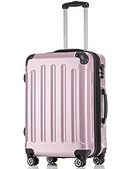 Ruedas gemelas de 2048Maleta rígida Maleta viaje en m L XL Juego de colores en 14, rosa, large