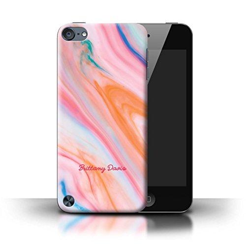 Personalisiert Personalisiert Marmor Hülle für Apple iPhone SE / Perle Weißen Stempel Design / Initiale/Name/Text Schutzhülle/Case/Etui Korallenstempel