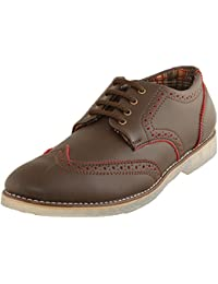 BACCA BUCCI MEN COFFEE FAUX LEATHER CASUAL SHOES