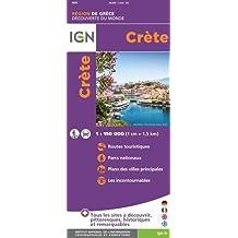 Crete Carte Geographique Monde.Amazon Fr Carte Routiere Crete Livres
