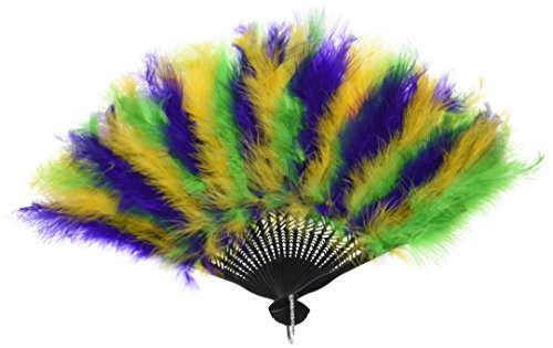 Beistle 57221 Mardi Gras Feather Fan, 12 Zoll von 20