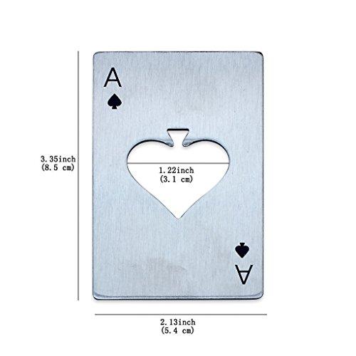 ETGtek(TM) Acciaio inossidabile Giocare regalo picche poker barra degli strumenti asso Birra uomo Opener