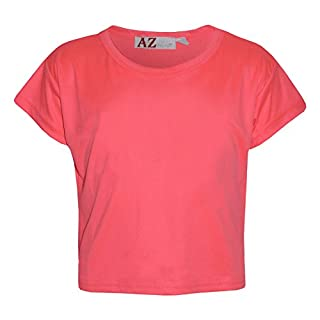 A2Z 4 Kids Girls Top Kids Plain Color Stylish Fahsion Trendy T Shirt Crop Top New Age 7 8 9 10 11 12 13 Years