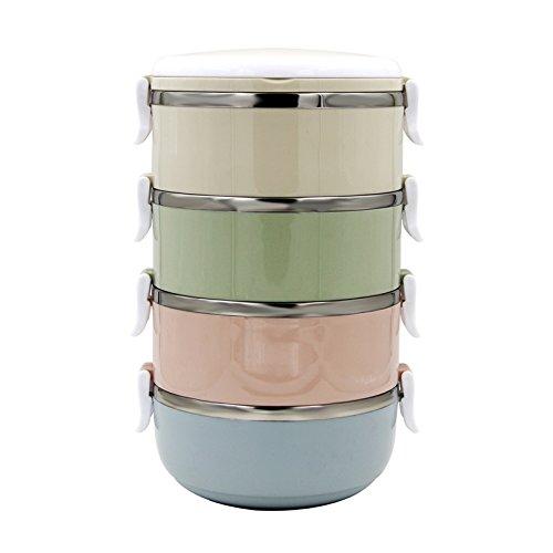 Yontree Thermoschüssel Edelstahl Essenbehälter Isolierbehälter Thermoskanne für Speisen Food 3 4 Ablage