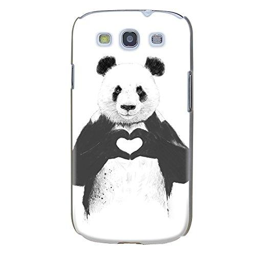 Handyhülle für Samsung Galaxy S3 Mini ( Panda ) - Hülle - Schutzhülle mit Motiv - TPU Silikon Hülle - Case - Cover - Schale - Backcover - Handytasche