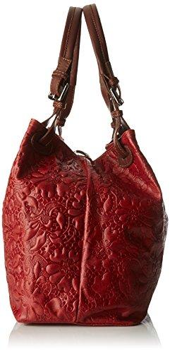 Chicca Borse 80049, Borsa a Tracolla Donna, 32.5 x 28 x 16.50 cm (W x H x L) Rosso