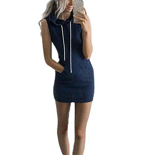 zvolles dünnes Kleid-Sommer-beiläufiges Sleeveless Hoodie-Kleid-Strand-Kleid-beiläufiges Kleid (Kostüm Kleiderschrank Stunden)