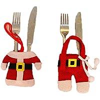 6pezzi costume di Babbo Natale coperti di Natale decorazione di