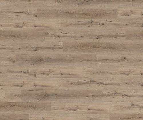 HORI® Vinyl Laminat Dielen Klick PVC Design Bodenbelag Dielenboden Vinylboden Fussbodenheizung und Feuchtraum geeignet I Eiche Caldo I 10 Dielen im Paket = 2,18 m²