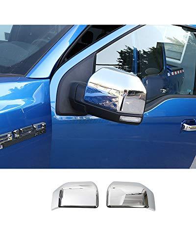 LLHAI Kompatibel mit ABS Chrom Auto Außen Rückspiegel Dekoration Abdeckung Trim Aufkleber Ford F150 F-150 2015 2016 2017 2018 2019 Auto Styling,Chrome