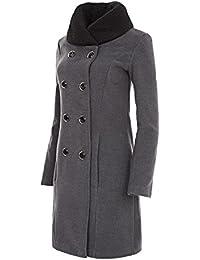 Suchergebnis auf Amazon.de für  mantel wolle grau groesse 44  Bekleidung d31a90233d