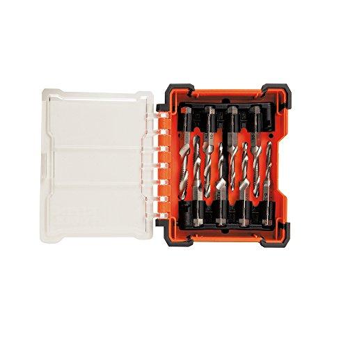 Klein Tools 32217HSS-Tippen Sie Tool Kit, sechs auf Größen Plus zwei extra der kleineren Wasserhähne (Debur-tool)