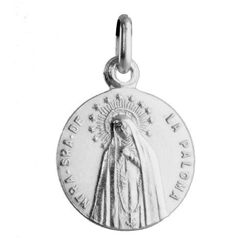 SACRE COEUR - Medalla de Nuestra Señora de la Paloma o Virgen de la Paloma | Plata Primera Ley | Patrona Popular de Madrid y de los Bomberos