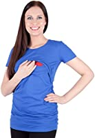 Mija - 2 in1 Kurzarm-Shirt Stillshirt & Umstandsshirt / Stilltop / Umstandstop 3074