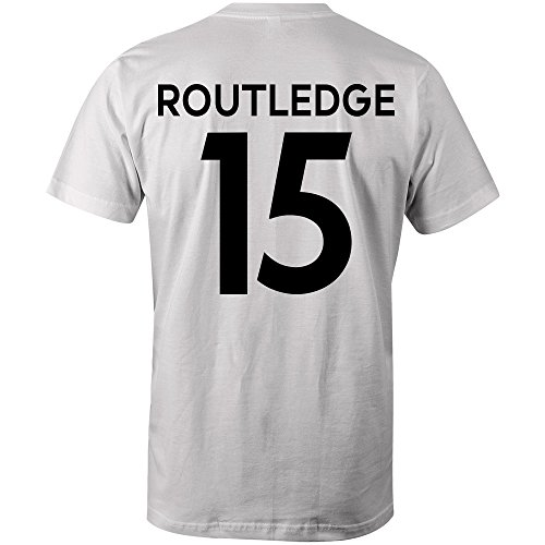 Wayne Routledge 15 Club Player Style T-Shirt White/Black