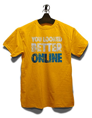 You Looked Better Online Vintage T-Shirt Gelb