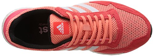 adidas Adizero Adios 3, Chaussures de Running Compétition Femme Orange (Sun Glow/Ftwr White/Shock Red)