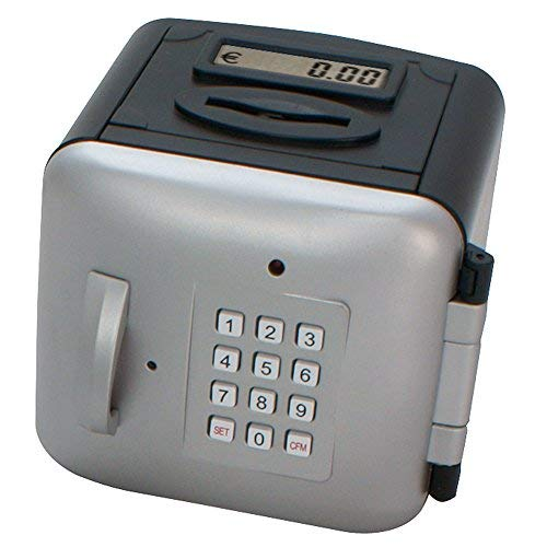 Makro Paper 630478 - Caja fuerte, color plata y negro