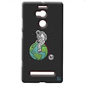 yP Astronaut on Earth Design Hard Back Case Cover for Gionee Elife E8