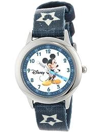Disney Kids' W000015 Mickey Mouse Stainless Steel Time Teacher Watch