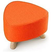 DY Hocker Gepolsterter Schemel-Osmane-Dreieck-Sitzmöbel, hölzerne 3 Beine, 39 * 28 cm (Farbe : Orange) preisvergleich bei kinderzimmerdekopreise.eu