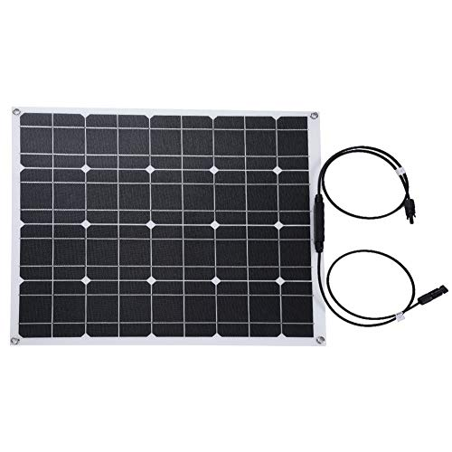 koulate Semiflexibler ETFE-Oberflächen-Chip-Sonnenkollektor, tragbarer wasserdichter monokristalliner Sonnenkollektor 12V 50W Rahmenlose DesignCharger-Solarzelle