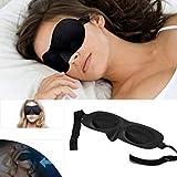 New Uni 3D Healthy Black Sleeping Eye Mask Blindfold Travel in Protable Rest Tips SKU:M0275