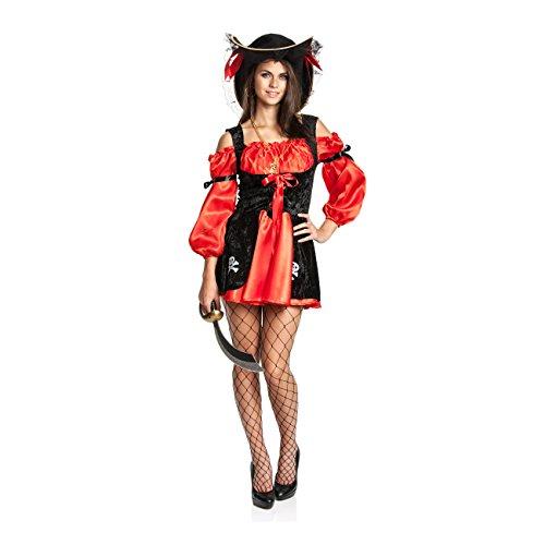 Kostümplanet® Piratin-Kostüm Damen Piraten-kostüm Faschings Piratin Größe 44 46
