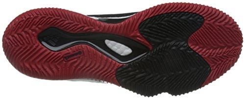 adidas Crazylight Boost Lo, Basket homme Multicolore - Multicolore (Cblack/Scarle/Cblack)