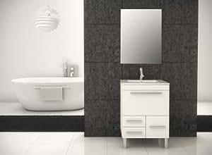Mennza - Meuble de salle de bain LONDRES blanc brillant 60 cm