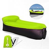 waitiee gonfiabile Air divano sedia a sdraio con cuscino integrato, gonfiabile, Air Couch divano dormire, per viaggi, campeggio