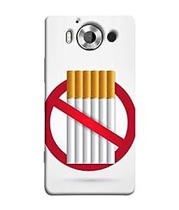 Microsoft Lumia 950, Nokia Lumia 950 Back Cover No Smoking Sign Design From FUSON