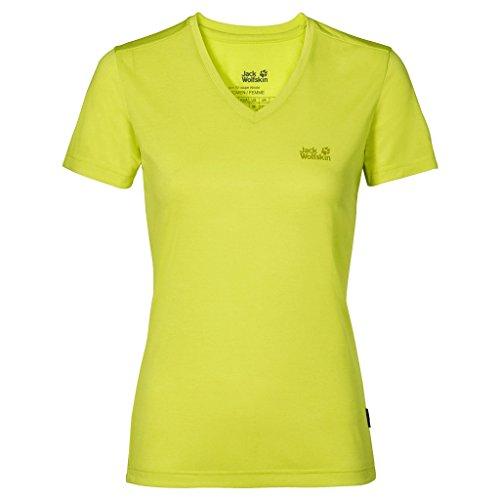 Jack Wolfskin Damen Cross Trail T, Damen, Shirt Crosstrail T XS Bright Absinth (Damen Shirt Absinth)