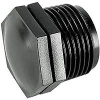 """Rc-Junter 920-TM - Tapón rosca macho, 1 1/4"""", polietileno, color negro"""