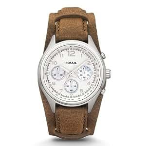 Fossil - CH2795 - Montre Femme - Quartz Analogique - Chronomètre - Bracelet Cuir Marron