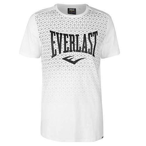 7260c85eca7768 Everlast Herren T Shirt Kurzarm Rundhals Geometrisches Print Weiß Geo L