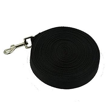 Yontree 10M 15M 20M Laisse pour Chien Grosse en Nylon Corde Collier Réglable Tressé Noir 20m/787.40