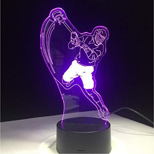 ZKLIB Eishockey Sport Modellierung 3D Tischlampe 7 Farben Ändern LED Nachtlicht USB Schlafzimmer Schlaf Beleuchtung Sport Fans Geschenk Wohnkultur