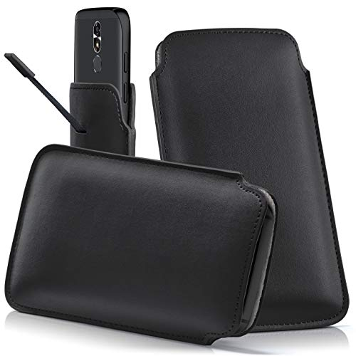 moex CUBOT H1 | Hülle Schwarz Sleeve Slide Cover Ultra-Slim Schutzhülle Dünn Handyhülle für CUBOT H1 Case Full Body Handytasche Kunst-Leder Tasche